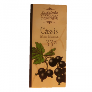 Weiße Schokolade Cassis