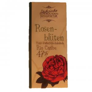 vollmilchschokolade rosenblüte