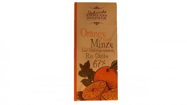 zartbitterschokolade orange minze
