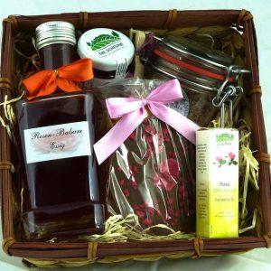 Geschenkkorb Rosen-Bouquet