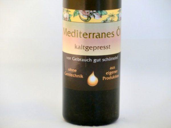Mediterranes Öl kaltgepresst