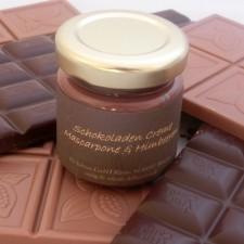 Schokoladen Creme Mascarpone mit Himbeeren MHD 13.März 2014