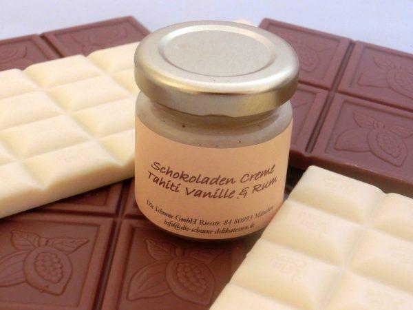 Weiße Schokoladen Creme Vanille & Rum MHD 13.März 2014