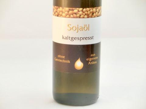 Sojaöl deutsch, kaltgepresst, ohne Gentechnik