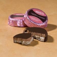 Schokoladen Taler Rose