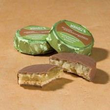 Schokoladen Taler Pistazie