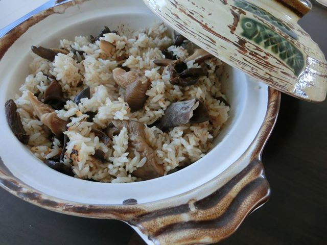 Ricemeal with asian mushrooms