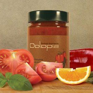 Tomatensauce mit Orangen und roter Spitzpaprika