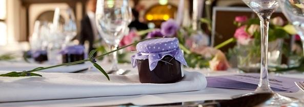 Hochzeitsmarmelade Hochzeitstisch