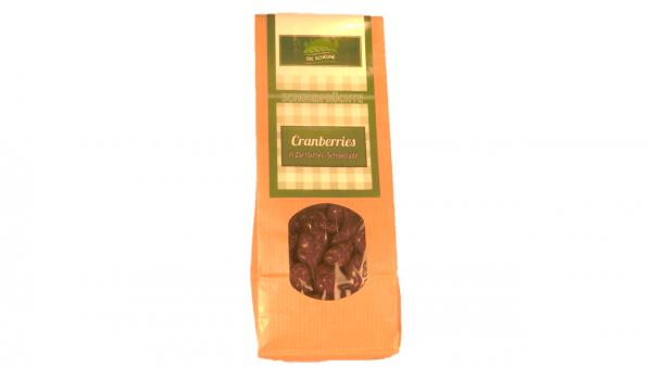 Cranberries in Zartbitterschokolade