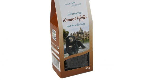 Schwarzer Kampot Pfeffer